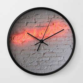 STICK WITH ME Wall Clock