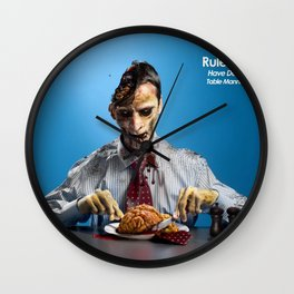 Zombie Etiquette : Table Manners Wall Clock