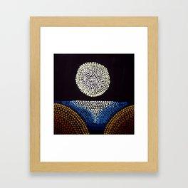 Moon over Sea Framed Art Print