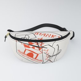 Chinese Food Takeout - Contour Line Drawing Fanny Pack
