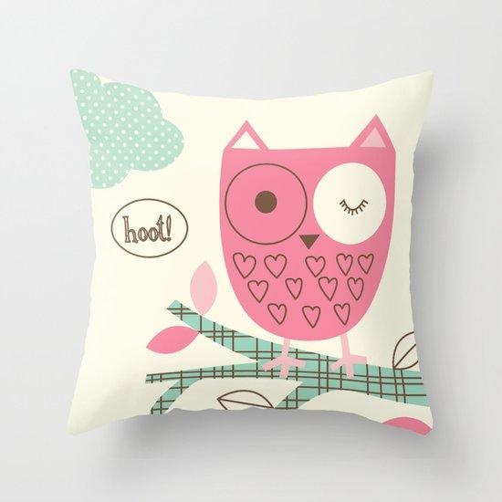 Hooty Owl Throw Pillow