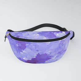 Purple Geode Low Poly Geometric Triangles Fanny Pack