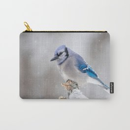 Blue Jay in the Snow Carry-All Pouch