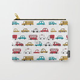 Cars trucks buses city highway transportation illustration cute kids room gifts Carry-All Pouch