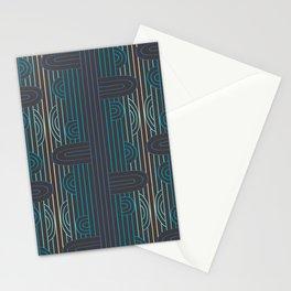 art deco stripe Stationery Cards