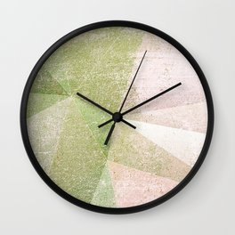 Frozen Geometry - Pink & Green Wall Clock
