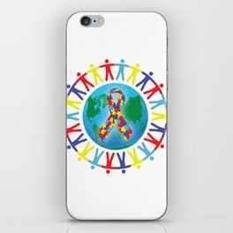 Autism awareness day Shirt - support autistic kids iPhone Skin
