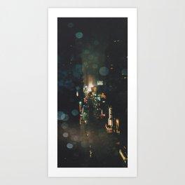 Rainy Night In NYC Art Print