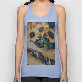 Holding Sunflowers #society6 #illustration #nature #painting Unisex Tank Top