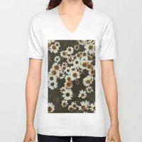 leah flores V-neck T-shirts featuring Flores by Gabriel Sul