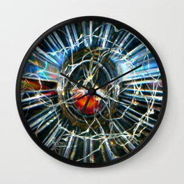 Corinne's Magic, Glass and Light Scanography Wall Clock