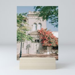 Colonial House Surrounded by Tropical Vibes Mini Art Print