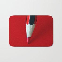 Crayon rouge red Bath Mat