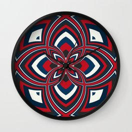Spiral Rose Pattern B 1/4 Wall Clock