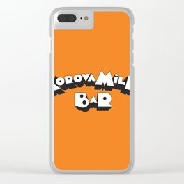 Korova Milk Bar Clear iPhone Case