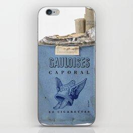 Gauloises 20 Cigarettes France Vintage Pack 1968 iPhone Skin