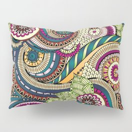 Abstract doodle floral pattern Pillow Sham