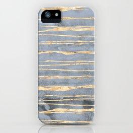 Watercolor Gradient Gold Foil III iPhone Case