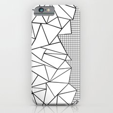 Abstraction Outline Grid on Side White iPhone 6 Slim Case