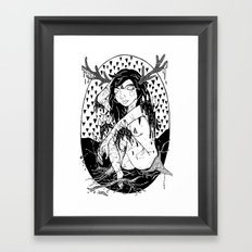 tree lady Framed Art Print