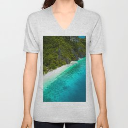 White sands and blue waters Unisex V-Neck