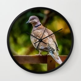 Collared Dove Wall Clock