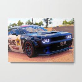 Highway Police Patrol Challenger Demon Metal Print
