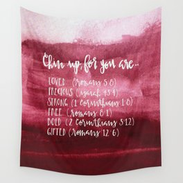 chin up (pink) Wall Tapestry
