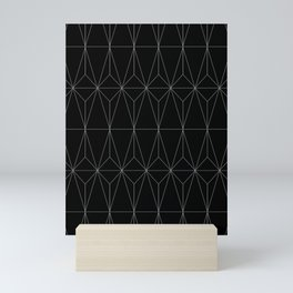 Black Geometric Mini Art Print
