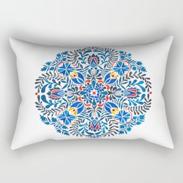 Blue-red mandala Rectangular Pillow