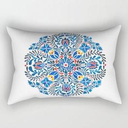 Blue-red mandala Rectangular Pillow