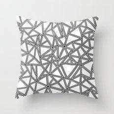 Abstract New Black on White Throw Pillow