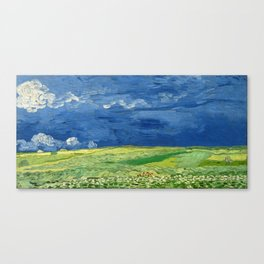 Wheatfield Under Thunderclouds by Vincent van Gogh (1890) Canvas Print