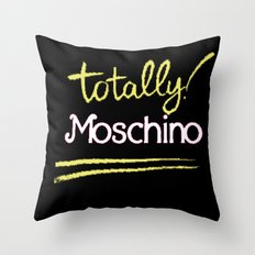 Totally Moschino Black Throw Pillow