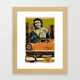 Retro Cuba design with car & Che Guevara Framed Art Print