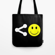 Share Happiness Tote Bag