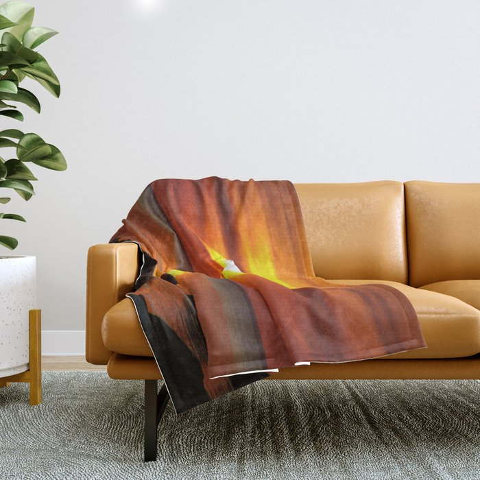 Hazy Seaside Sunset Throw Blanket