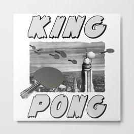 Ping Pong King Metal Print