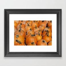 Pumpkin Fest Framed Art Print