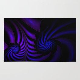 Spiral abstract fractal Rug
