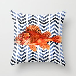 RED SCORPIONFISH Throw Pillow