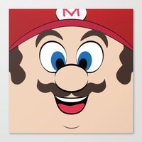 super mario Canvas Prints featuring Super Mario by Shakeel