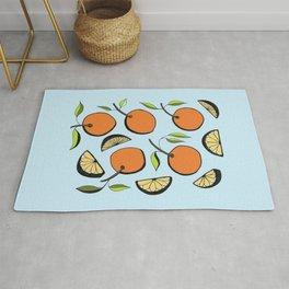Oranges and Orange Slices Rug
