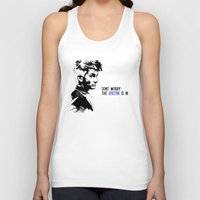 david tennant Tank Tops featuring David Tennant Dr. Who - The Doctor is In by Noal's Corner