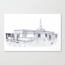 Palmyra LDS Temple Canvas Print
