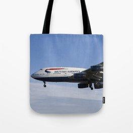 British Airways Boeing 747 Tote Bag