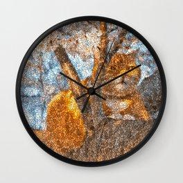 Ginger Cheshire Cat Wall Clock