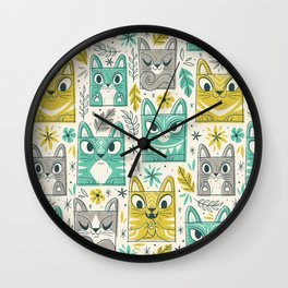 Tiki Kitty Wall Clock
