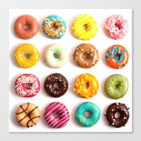 donuts Canvas Prints featuring Donuts by Lyre Aloise