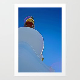 Sangre Stupa Art Print